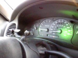 Laser dashboard lights.