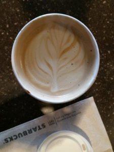 A Starbucks Flat White